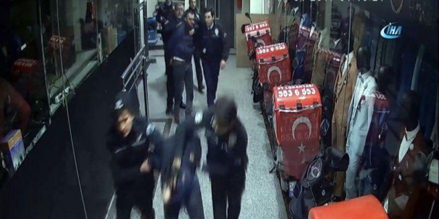 Hırsızların suçüstü yakalandığı operasyon kamerada
