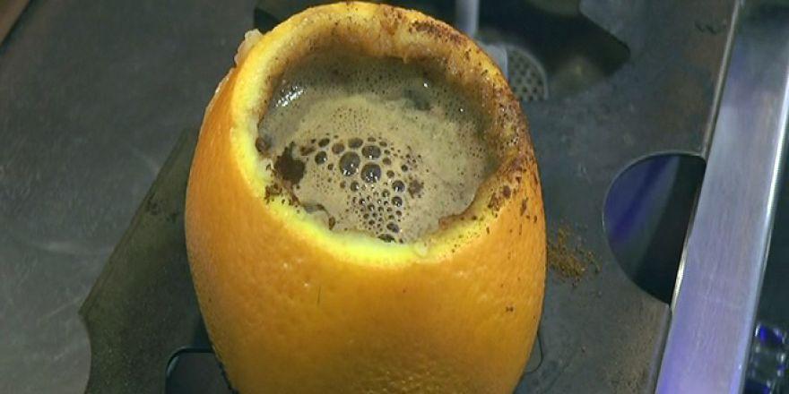 Portakal içinde pişen 'Türk Kahvesi'
