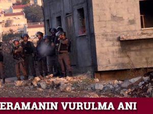 AA kameramanın Ramallah'ta vurulma anı