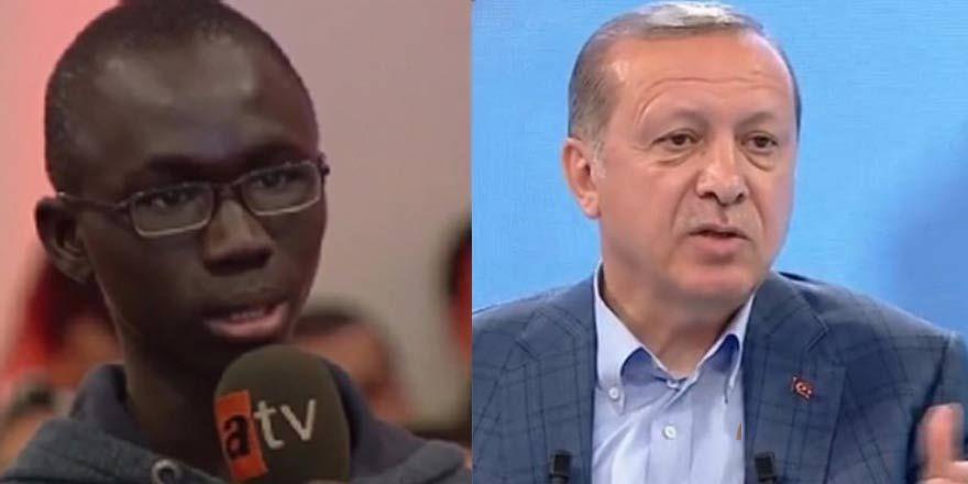 Senegalli öğrenci'den Erdoğan'a: Sizi dünya lideri olarak görüyoruz