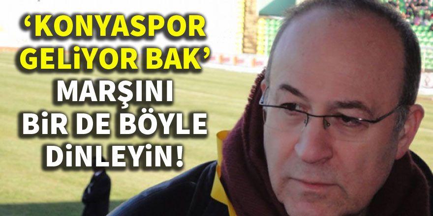 Haldun Domaç bağlamayla 'Konyaspor Geliyor Bak' marşını çaldı