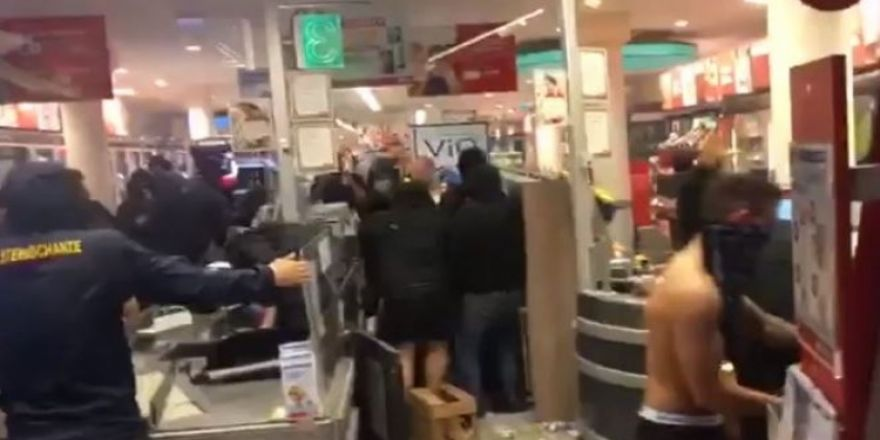 İşte özgür Almanya ve yağmalanmış bir market!