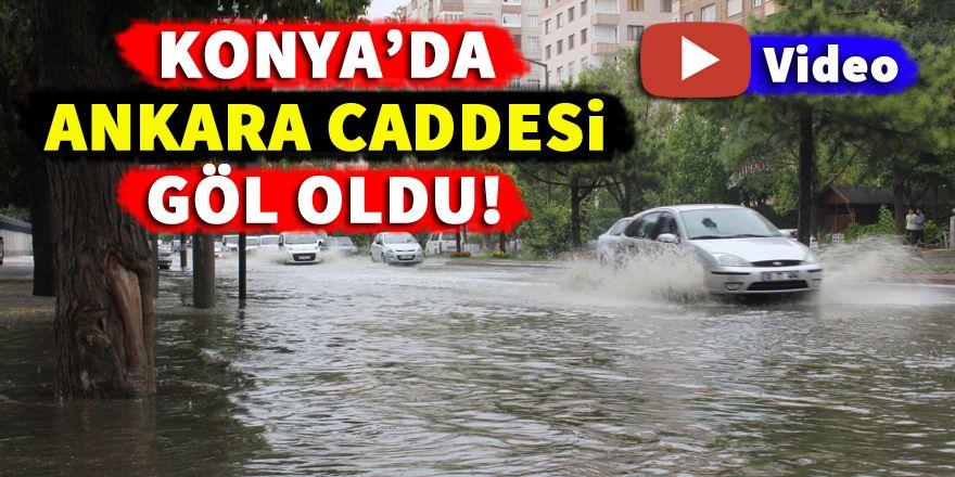 Konya'da Ankara Caddesi göl oldu!