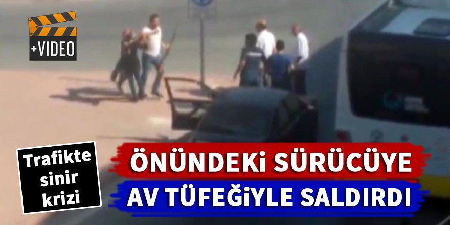 Konya'da trafikte sinir krizi! Av tüfeğiyle saldırdı