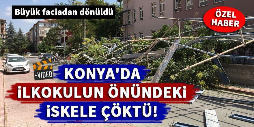 Konya'da İskele çöktü! Büyük faciadan dönüldü