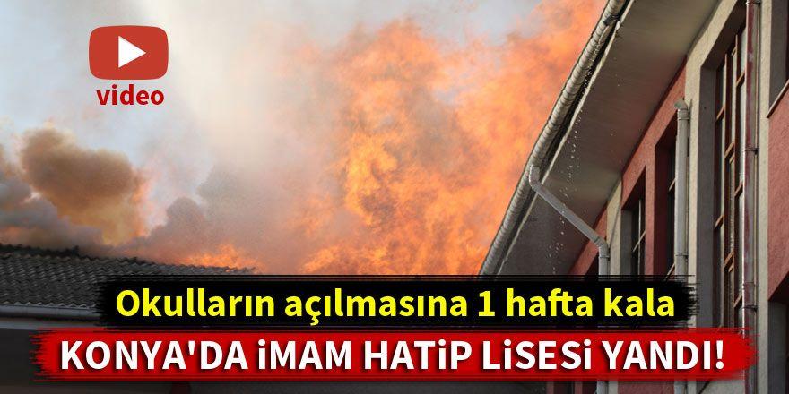 Mahmut Sami Ramazanoğlu İmam Hatip Lisesi'nde yangın