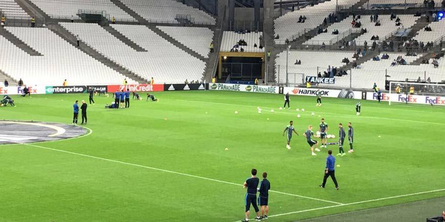 Marsilya - Konyaspor maçı öncesi Velodrome Stadı'nda son görüntüler
