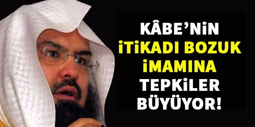 Kabe'nin itikatsız imamına tepkiler çığ gibi