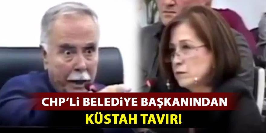 CHP'li belediye başkanından küstah tavır