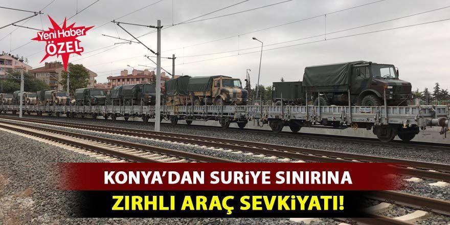 Suriye'ye sevk edilen zırhlı araçlar bu sabah Konya'dan geçti!
