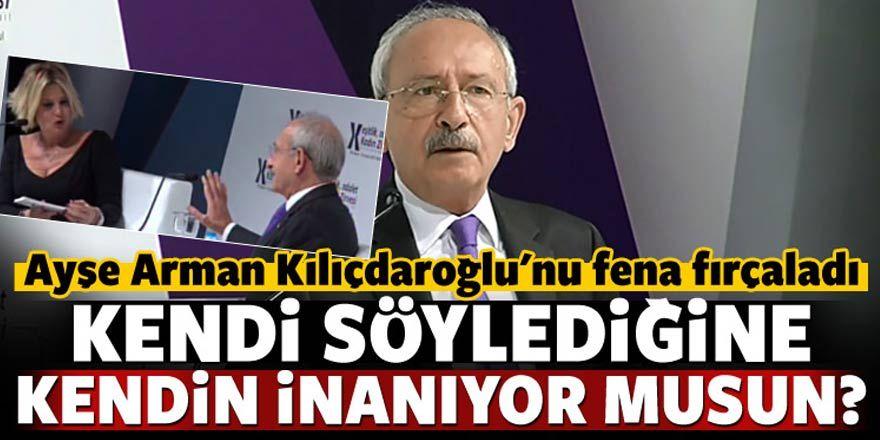 Ayşe Arman Kılıçdaroğlu'nu canlı yayında fırçaladı