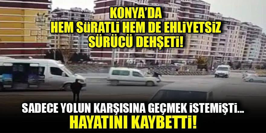 Konya'da karşıdan karşıya geçmek isteyen kadın feci şekilde can verdi!