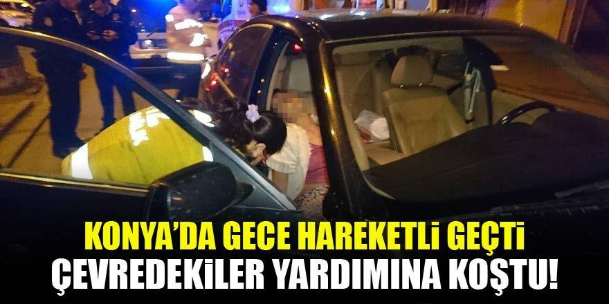 Konya'da alkol alan genç kız yarı baygın bulundu