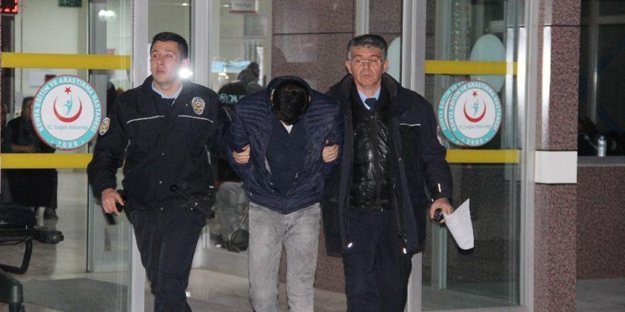 Konya'da 'Dur' ihtarına uymayan şahıs hırsızlık şüphelisi çıktı