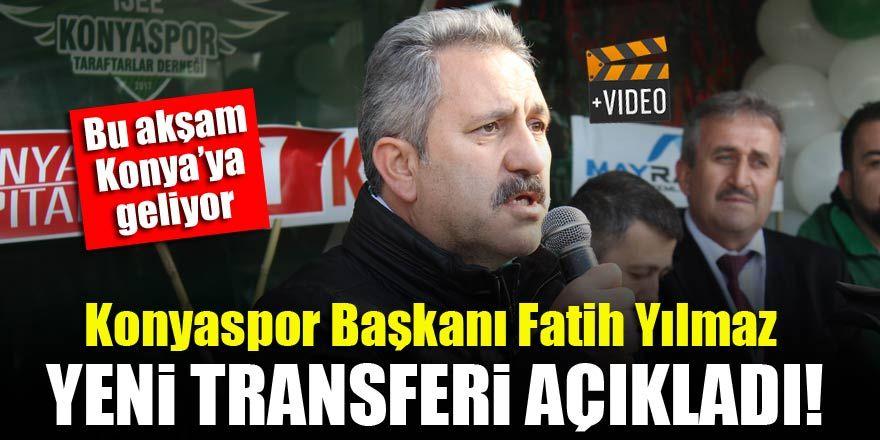 Konyaspor Başkanı Fatih Yılmaz'dan transfer açıklaması
